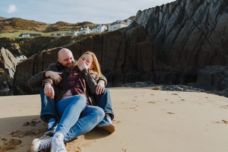 Woolcombe engagement photographer Bryony and Ben 08