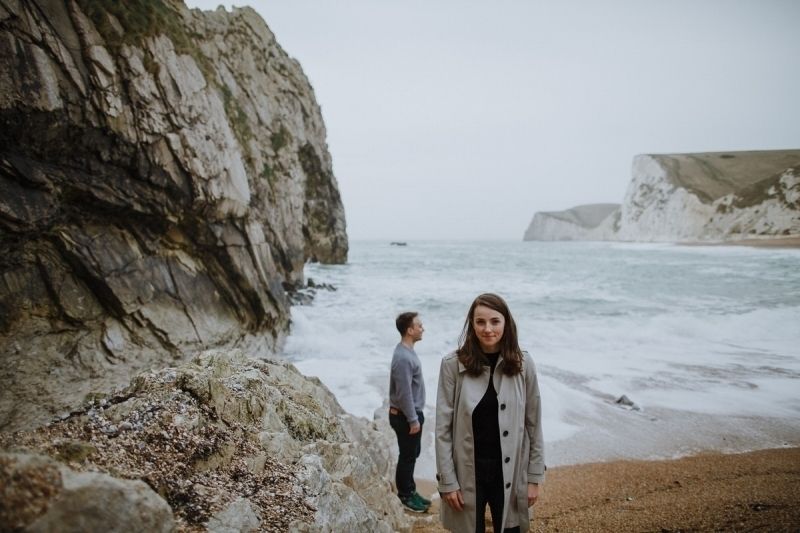 Durdle Door engagement shoot Liz & Jack