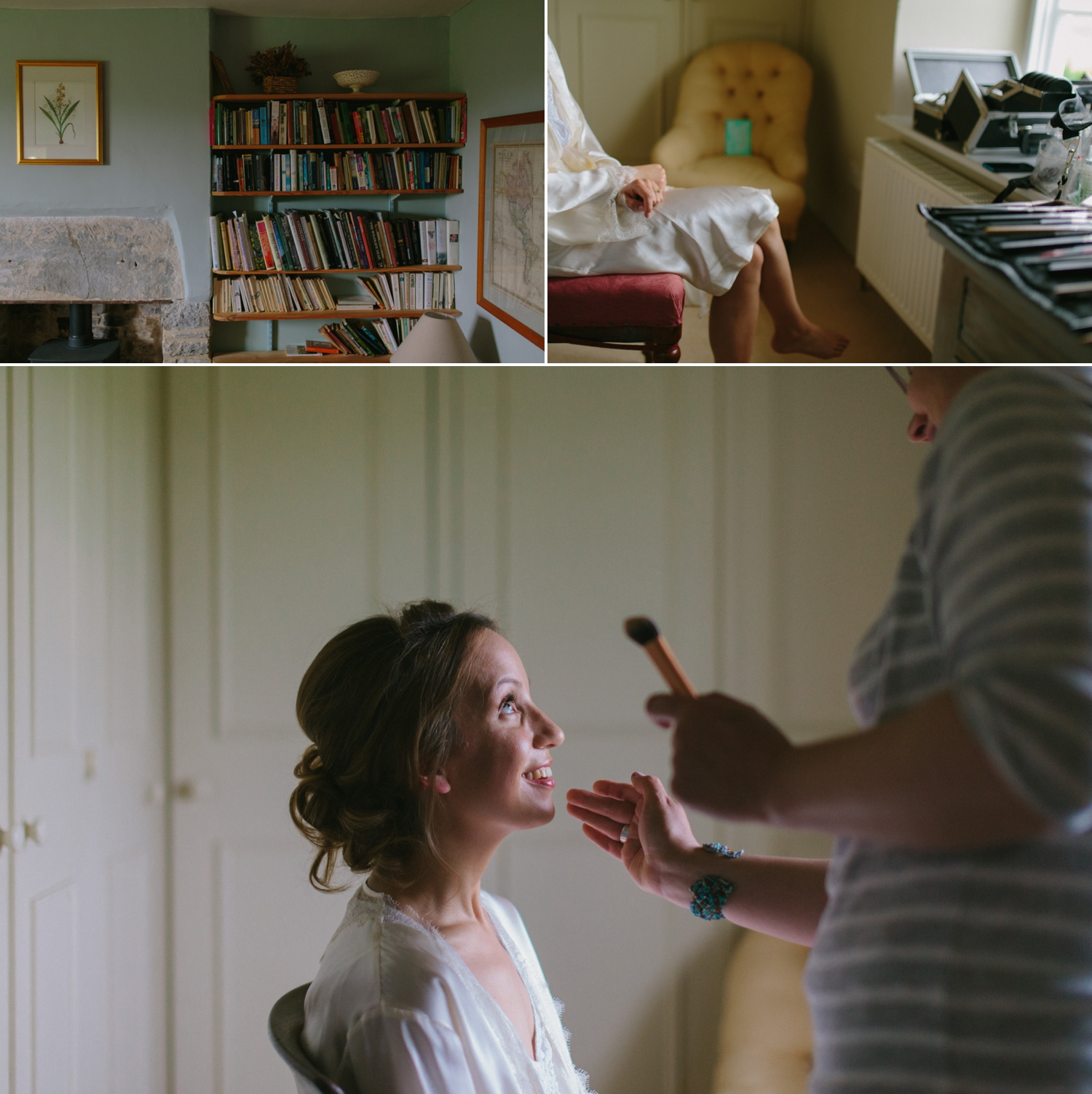 wedding make up at old oak farm