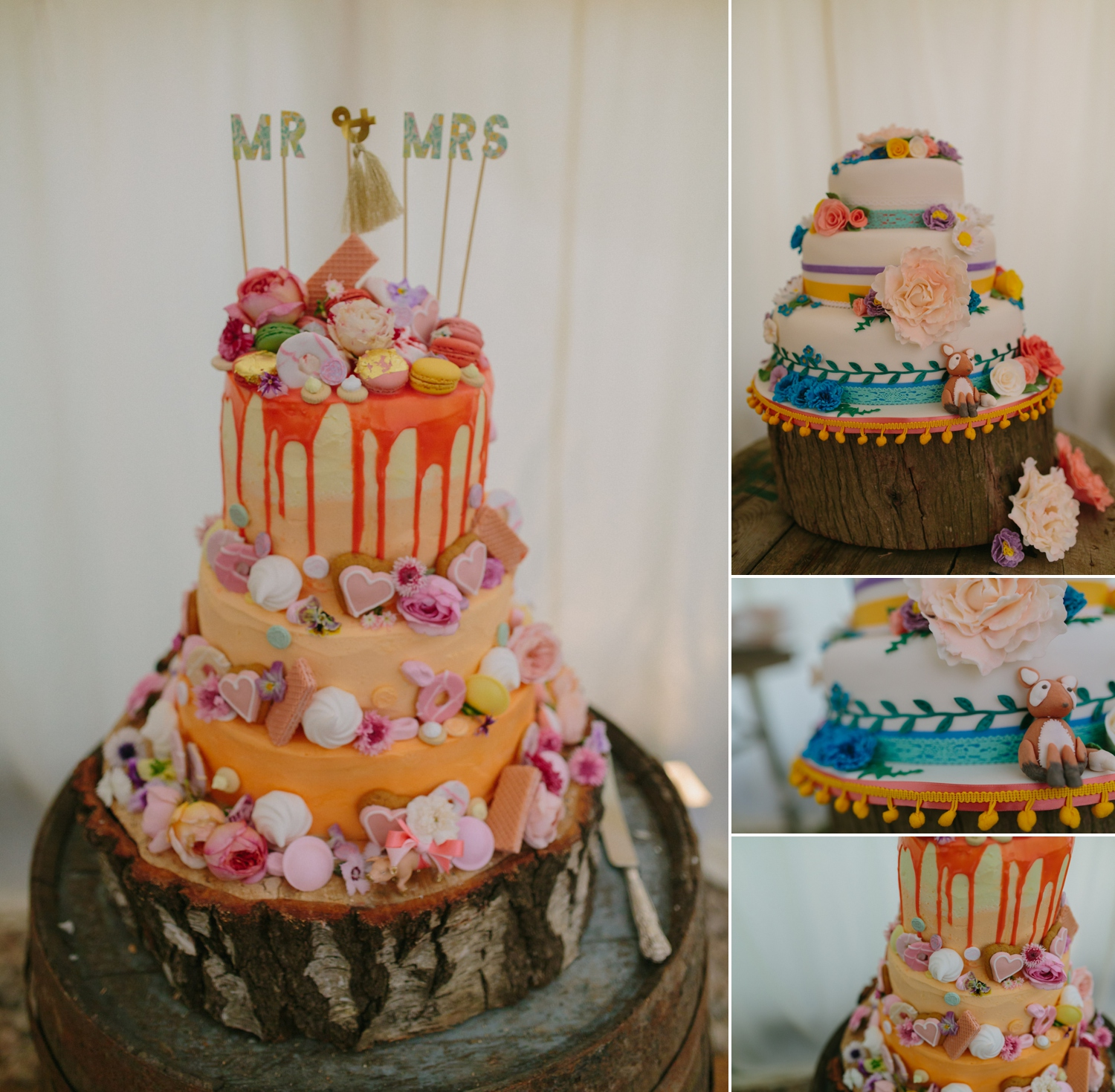 fabulous wedding cake at old oak farm