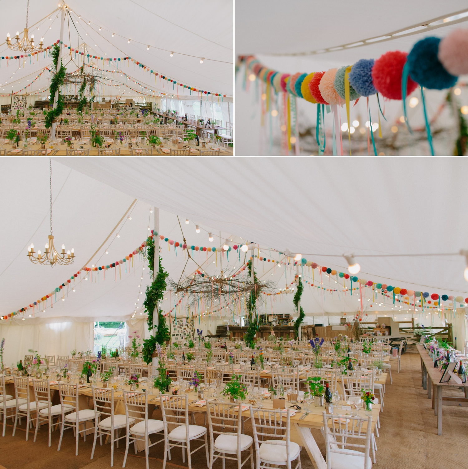 marquee set up at old oak farm
