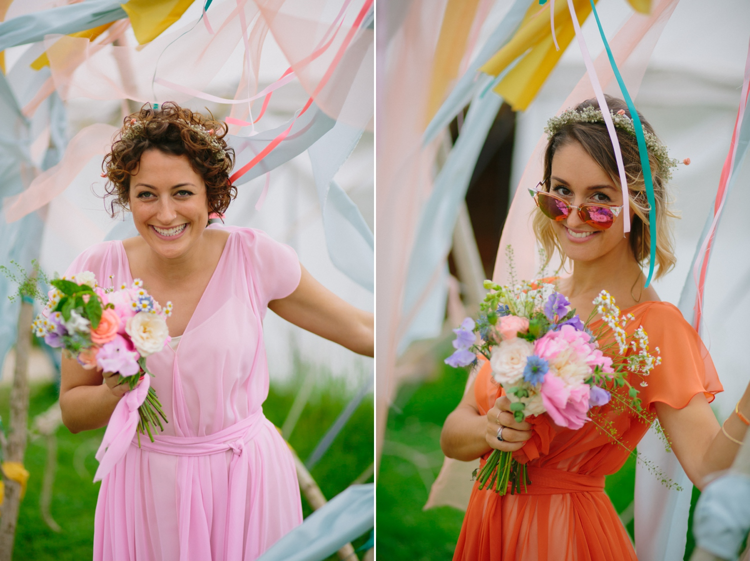 bridesmaids portraits at old oak farm