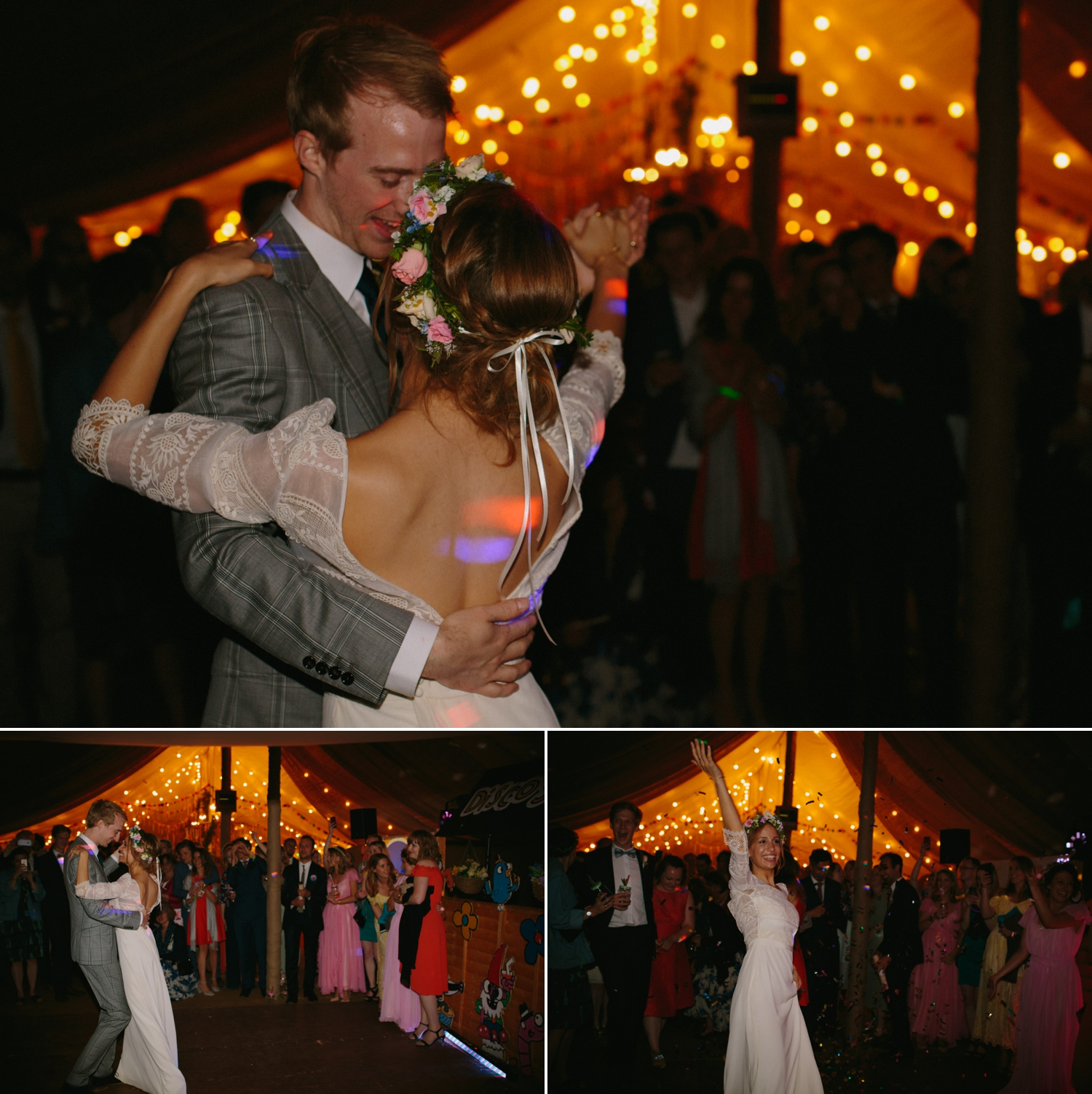 bride and groom first dance at old oak farm