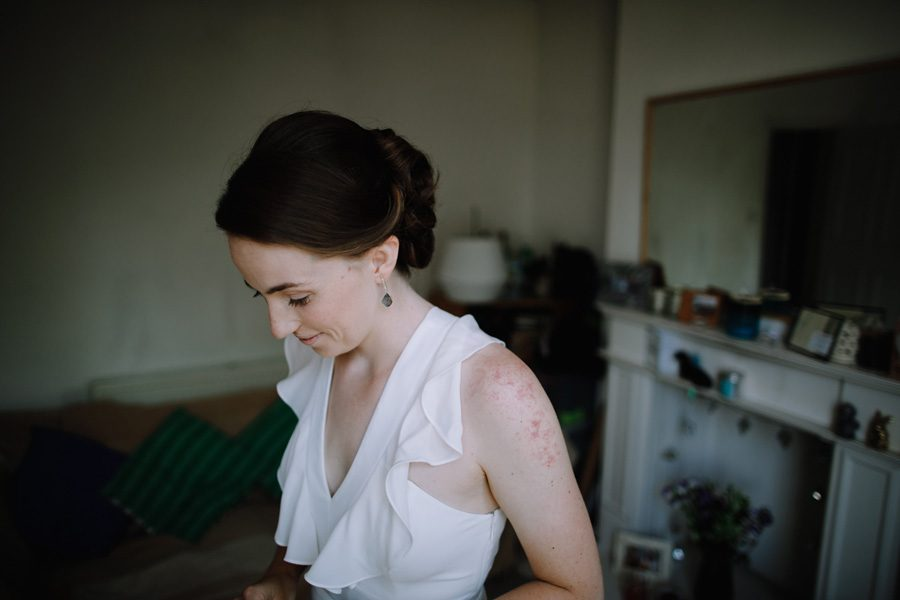 wandsworth wedding bride in a moment before her wedding