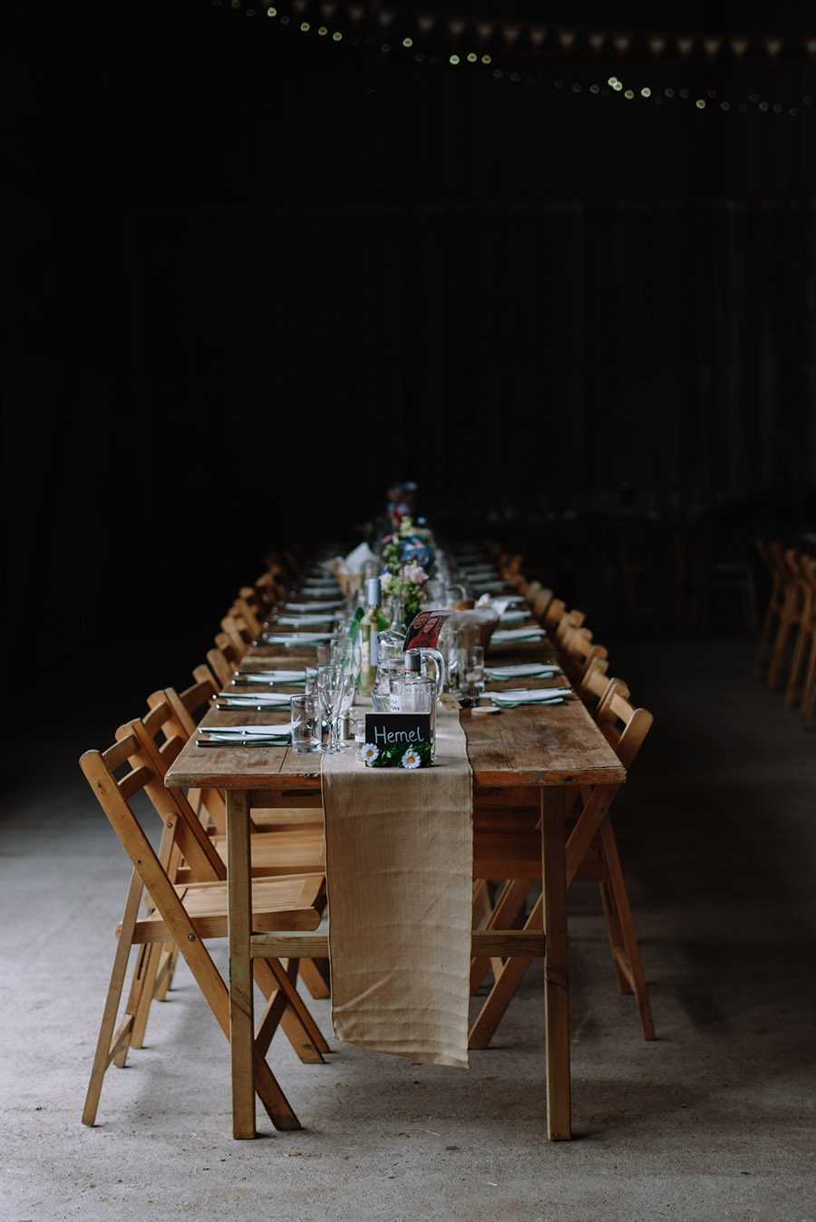 a beautiful table setting for a festival wedding