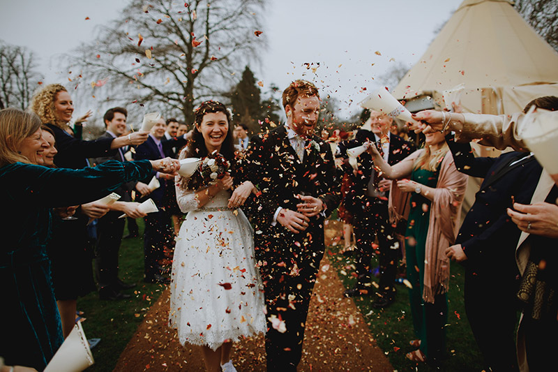 WINTER FESTIVAL WEDDING GLASTONBURY WEDDING 29th December 2018 08