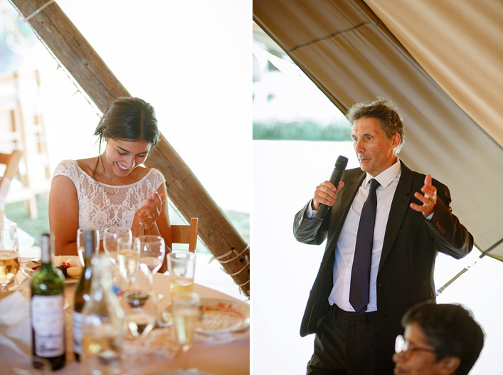 the father of the bride delivers a hilarious speech